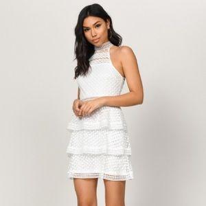 Tobi White Eyelet Ruffle Dress